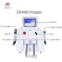 2 in1 OPT SHR IPL Therapy Hair Removal ND YAG Laser Tattoo Removal Machine