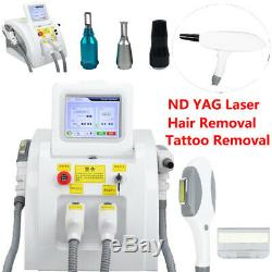 3 in1 SHR OPT Elight IPL Permanent Hair Removal YAG Laser Tattoo Removal Machine