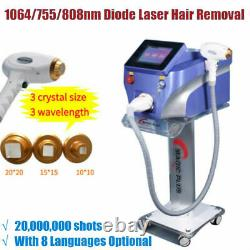 808nm Diode Laser Freeze Painless Permanent Body Facial Hair Removal Machine SPA