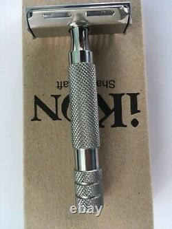 IKON S3S 316l all stainless machined safety razor, boxed. A rare and heavy Beast