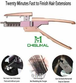 Machine 6D Hair Extensions Tools for Hair Extension & Pliers for Removal