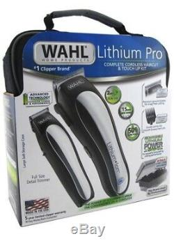 Men Professional Cordless Hair Cut Clippers Wahl Cutting Kit Trimmer Machine NEW