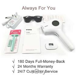 Permanent IPL Laser Hair Removal Machine Device Kit Women With 500,000 Flashes