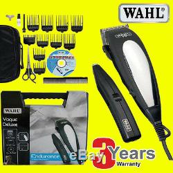 WAHL 79305-013 Delux Hair Clipper+Beard Trimmer Complete Haircutting Machine Kit